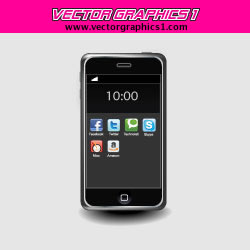 iPhone Vector Graphic Image
