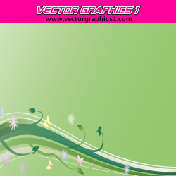 Abstract Green Wallpaper Vector Graphic