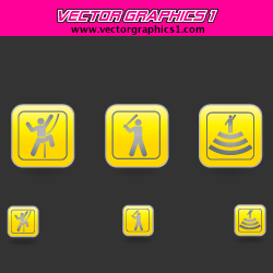 Warning Icons Vector Graphics